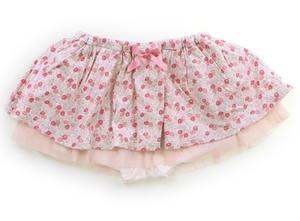 べべ BeBe スカート 80 女の子 薄色ピンク・ピンク小花柄 子供服 ベビー服 キッズ(824734)