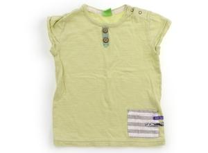 ラグマート Rag Mart Tシャツ・カットソー 90 女の子 黄緑・グレー・白・ボーダー 子供服 ベビー服 キッズ(824673)