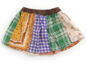 FOキッズ F.O.KIDS スカート 80 女の子 青緑ペイズリー花柄 子供服 ベビー服 キッズ(824597)