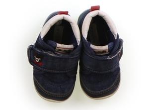 ダブルB Double B フラットシューズ・スリッポン 靴13cm~ 男の子 ネイビー・オフ白 子供服 ベビー服 キッズ(827392)