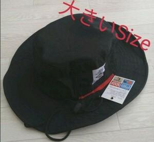 新品 ブラック 大きいSizeサファリハット 帽子 夏フェス アウトドア 釣り 登山 キャンプ