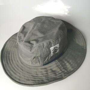 新品 グレー 訳あり紐なし ステッチ飛びありの特価サファリハット 帽子 夏フェス アウトドア 釣り 登山キャンプ
