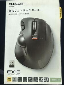 エレコム ELECOM M-XT2DRBK [ワイヤレストラックボール 親指操作タイプ 無線 ブラック] 未使用品 《送料無料》