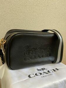 【新品未使用】1円コーチcoachショルダーバッグ レザーブラック