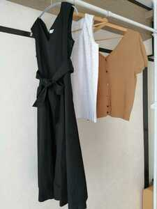 3 point set * use 5 times and downward, cleaning settled. outing . commuting oriented One-piece, knitted, cut and sewn