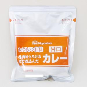 同梱可能 レトルトカレー レストラン仕様カレー 日本ハム 甘口x4食セット