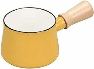 イエロー パール金属 ミルクパン 10cm ホーロー イエロー プチっと HB-5066