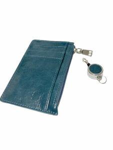 カードケース 小銭入れ 定期入れ パスケース IDカードケース リール付き
