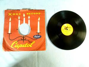 ★  SP盤    Capitol Records   ★   LES PAUL ~ ジングル・ベル   +   LES PAUL & MARY FORD ~ サイレント・ナイト