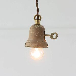 アメリカ キー/鍵スイッチ付ペンダントライト アンティーク ソケット 吊下げランプ シェードホルダー 真鍮 USA照明 工業系