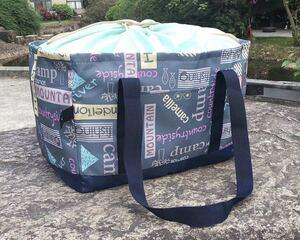 【新品】レジカゴバッグ 保冷保温折りたたみ エコバッグ ブルー