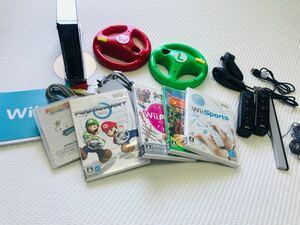 Nintendo Wii RVL-S-WAAGマリオカートセット二人用ソフト付き
