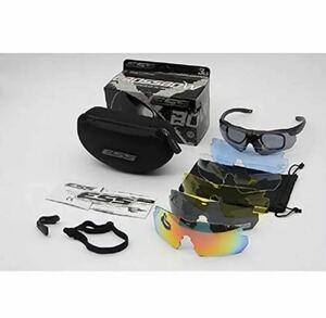 送料込み スポーツサングラス 替レンズ 6枚付 偏光レンズ サイクリングに