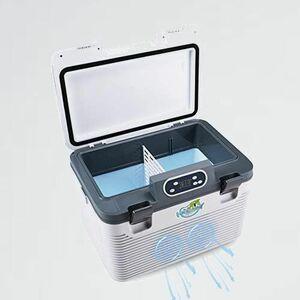 新品 未使用 -10℃5℃ 19L冷蔵庫 9-8Y 旅行 ホワイト 冷蔵庫 冷温庫 保温&保冷 AC110V家庭用 DC12Vカ-用 24Vトラック用 ミニ 小型