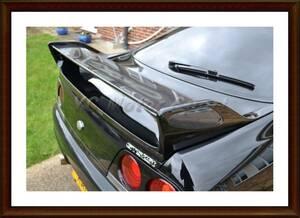 T2GARAGE カーボンOEMリアスポイラー1995-1998 ブレード R33 GTR GTSリアウイング車スタイリング