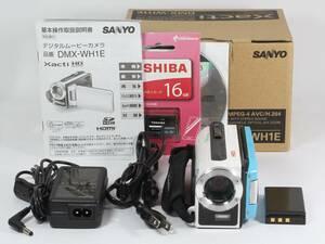 ★SANYO Xacti DMX-WH1E 光学30倍ズーム 防水カメラ カード付