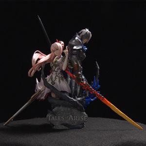 【PS5・PS4】 Tales of ARISE (テイルズ オブ アライズ) アソビストア特典「スタチューフィギュア(アルフェン/シオン)」