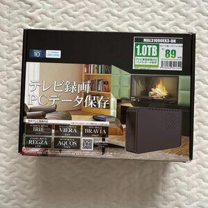 外付けHDD 外付けハードディスク MARSHAL USB3.0 MAL31000EX3-BK
