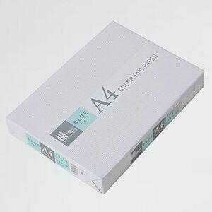新品 目玉 カラ-コピ-用紙 APP M-KY 紙厚0.09mm 500枚 A4 ブル-