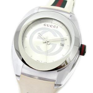 GUCCI グッチ SYNC シンク YA137102A / 137.1 クォーツ メンズ 腕時計 シェリー ラバーベルト ホワイト シルバー