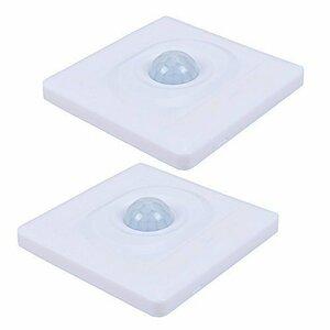 新品ホワイト 約86mm×86mm×32mm 人感 センサー 光りセンサー赤外線壁自動スイッチ キッチン台所やおVNZR