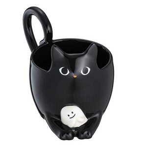 【新品】送料無料♪【台湾 スターバックス】 スタバ 2021年 ハロウィン ネコ 黒猫 マグカップ B7