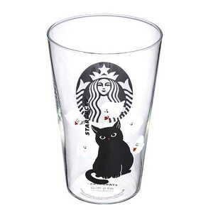 【新品】送料無料♪【台湾 スターバックス】 スタバ 2021年 ハロウィン 黒猫 幽霊 グラスコップ B28