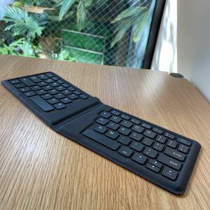 Bluetooth キーボード ワイヤレス エルゴノミクスキーボード 64キー 折りたたみ式 英語キー
