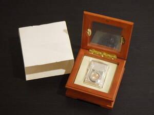 #7444A Zippo TIME LIGHT ジッポー時計付きライター 文字盤ピンク 箱入り 美品 時計不動品