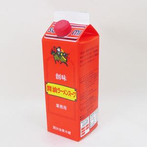同梱可能 創味 醤油ラーメンスープ 業務用 スープの素 倍率10倍 500ml 紙パックx6本セット/卸 代金引換便不可品