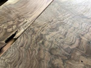 【R511】1円スタート!クラロウォルナット 薄板 2枚 極上杢 一枚板 材料 天然木 無垢材 乾燥材 銘木 木工 ~620×~330×~14㎜《 鬼童