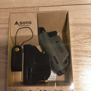 ソト (SOTO) マイクロトーチ ACTIVE (アクティブ) アーミーグリーン レザーケース付セット ST-486AGC