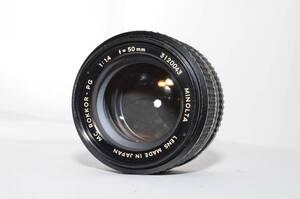 ミノルタ MINOLTA MC ROKKOR-PG 50mm F1.4 #ak1056
