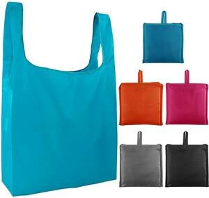 新品5枚セット エコバッグ 買い物袋 繰り返し可 買い物バッグ シュパット コンパクトショッピングバッグ (防水)(混合色)
