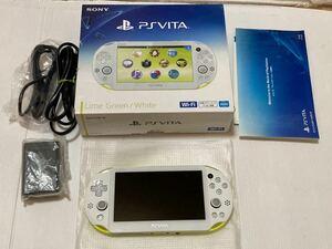 ★本体新品未使用 極上美品 PS Vita PCH-2000 ZA13 ライムグリーン ホワイト ソニー ヴィータ SONY PlayStation Vita 送料無料★