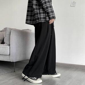 ワイドパンツ ボトムス スウェット ガウチョパンツ 袴パンツ メンズ レディース フレアパンツ L XL 黒 ブラック パンツ