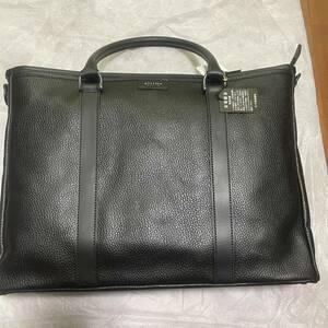 ultima TOKYO/ウルティマ トーキョー マーラー2 77963 レザー2WAYトートバッグ ショルダー ビジネスバッグ レザー 牛革 ブラック