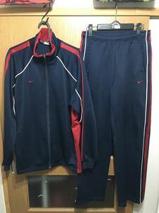 NIKE ナイキ セットアップ 上下 ジャージ ウェア ネイビー×レッド 紺×赤 XL スポーツ トレーニング