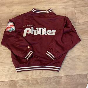 STARTER スターター製 フィラデルフィア フィリーズ Phillies スタジアムジャンパー スタジャン Lサイズ ワインレッド