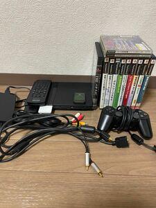 プレイステーション2本体薄型ソフト12本セットSCPH-79000プレイステーション2 PS2ソフトセット