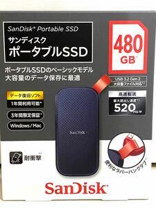 サンディスク ポータブルSSD 480GB SDSSDE30-480G-J25 SanDisk SSD 高速
