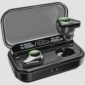 送料無料★最新版Bluetooth5.0 LED電量表示 260時間連続再生 Bluetooth イヤホン ワイヤレス ブラック