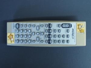 中古 ビクター VICTOR CD MD コンポ オーディオ リモコン 型番: RM-SUXZ7MD-S 管理No.10654