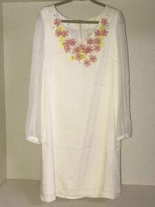 chesty 定価17800円 フラワーワンピース シフォンワンピース 花