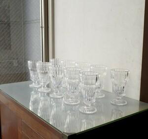 ○可愛いガラスのパフェグラス 10点セット クリームソーダ カフェ 喫茶店 レトロ 昭和 ヴィンテージ 古道具のgplus広島 2110i
