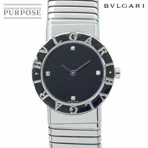 ブルガリ BVLGARI ブルガリブルガリ トゥボガス BB26 2TS レディース 腕時計 11P ダイヤ ブラック 文字盤 クォーツ ウォッチ 90116746