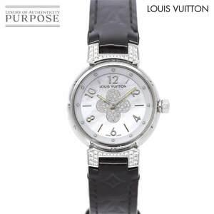 ルイ ヴィトン LOUIS VUITTON タンブール フォーエバー Q121P レディース 腕時計 ダイヤ ホワイトシェル 文字盤 クォーツ Tambour 90138916