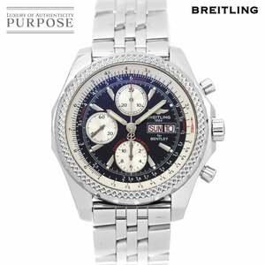 ブライトリング BREITLING ベントレー GT A13362 クロノグラフ メンズ 腕時計 デイデイト ブラック 文字盤 自動巻き Bentley 90134830