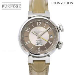 ルイ ヴィトン LOUIS VUITTON タンブール GMT レヴェイユ Q1152 メンズ 腕時計 デイト 裏スケルトン 自動巻き Tambour 90141089