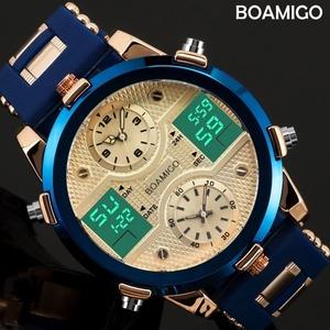 新品 デジタル 3 LED 時計男男性腕時計レロジオ BOAMIGO メンズ腕時計トップの高級ブランド男性スポーツ腕SQ46